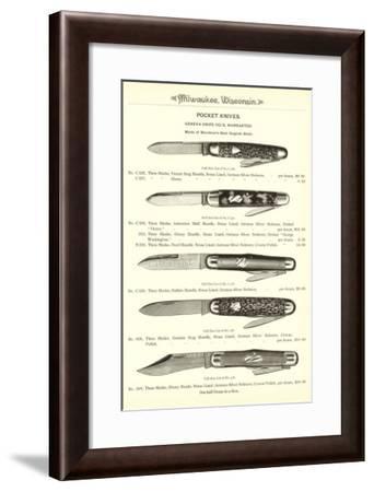 Advertisement for Pocket Knives--Framed Art Print