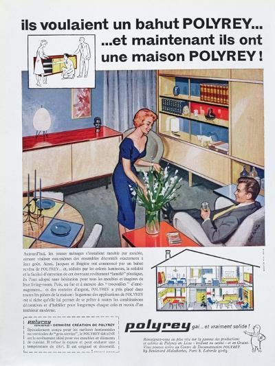 Advertisement for Polyrey Furniture, from 'Maison France' Magazine, July 1960--Giclee Print