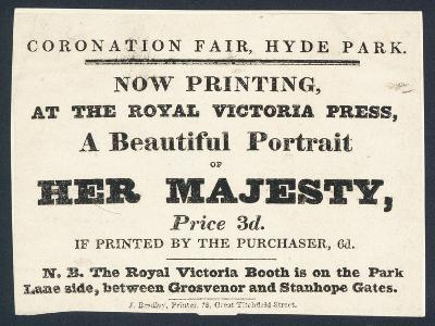 Advertisement for Printed Portraits of Queen Victoria--Giclee Print