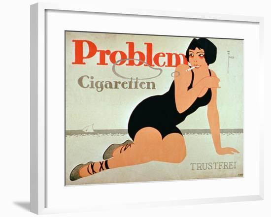 Advertisement for 'Problem Cigarettes'--Framed Giclee Print