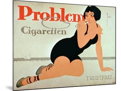 Advertisement for 'Problem Cigarettes'--Mounted Giclee Print