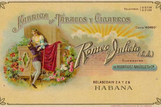 Advertisement for Romeo y Julieta cigars, c1900s-Unknown-Giclee Print