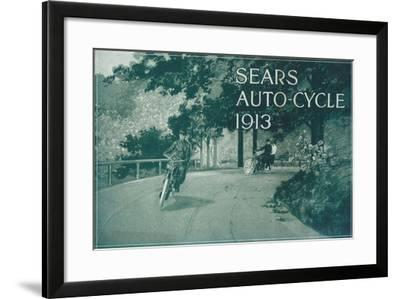 Advertisement for Sears Auto-Cycle, 1913--Framed Giclee Print