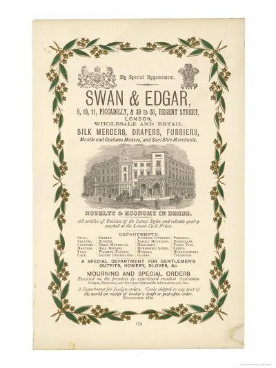 Advertisement for Swan and Edgar London--Giclee Print