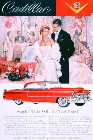 Advertisement for the 1955 Cadillac Car--Giclee Print