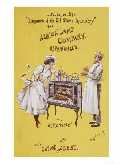 Advertisement For The Albionette Oven, Manufactured by The Albion Lamp Company, 1896-Dudley Hardy-Giclee Print