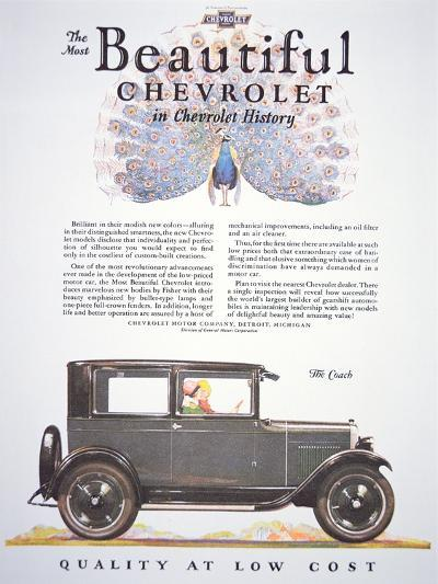 Advertisement for the Chevrolet Motor Company, 1927--Giclee Print