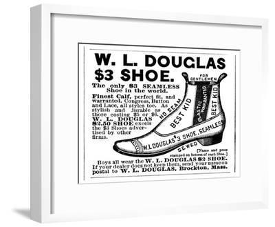 Advertisement for the Douglas $3.00 Men's Shoe, 1887