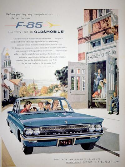 Advertisement for the F-85 Oldsmobile Car, 1961--Giclee Print