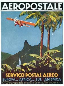Advertisement for the French Airmail Service, 1929