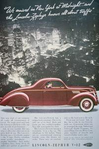 Advertisement for the Lincoln-Zephyr V-12, 1937