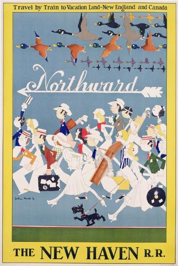 Advertisement for the New Haven Rail Road, C.1930-John Reed-Giclee Print