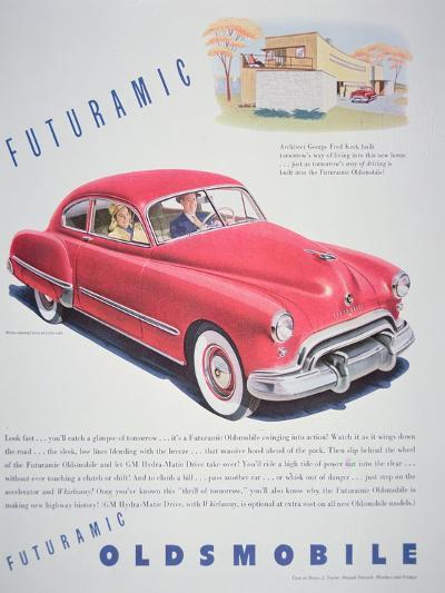 Advertisement for the Oldsmobile Futurmatic, 1948--Giclee Print
