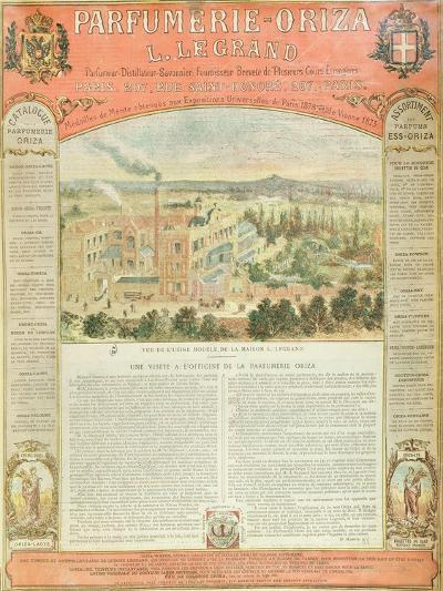 Advertisement for the Parfumerie Oriza L. Legrand, C.1884--Giclee Print