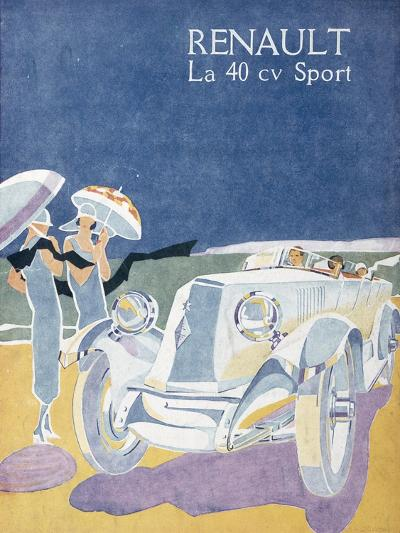 Advertisement for the Renault 40CV Sport, from 'Femina', July 1925--Giclee Print