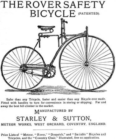 Advertisement for the Rover Safety Bicycle, 1885