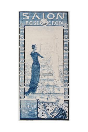 Advertisement for the 'Salon Croix Rose' at the Durand-Ruel Gallery, Paris--Giclee Print