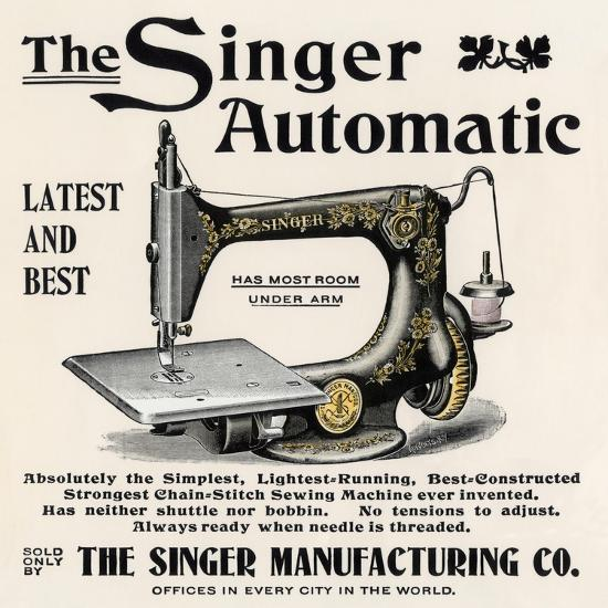 Advertisement For The Singer Automatic Sewing Machine 1890s Giclee Print Art Com