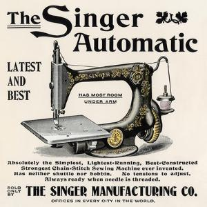 Advertisement for the Singer Automatic Sewing Machine, 1890s