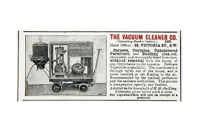 Advertisement for the Vacuum Cleaner Company, 1906--Giclee Print