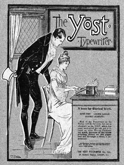 Advertisement for the Yost Typewriter, 1901- Glover-Giclee Print