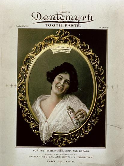 Advertisement for 'Wright's Dentomyrh Toothpaste'--Giclee Print