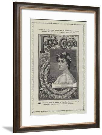 Advertisement, Fry's Cocoa--Framed Giclee Print