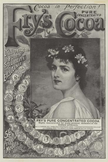 Advertisement, Fry's Pure Concentrated Cocoa--Giclee Print