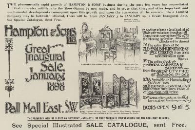 Advertisement, Hampton and Sons--Giclee Print