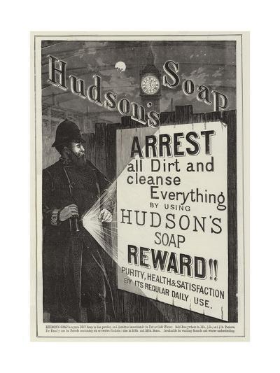 Advertisement, Hudson's Soap--Giclee Print