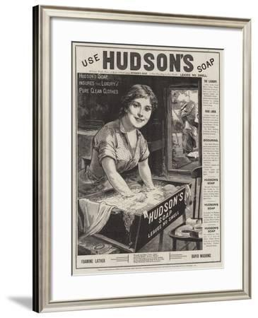 Advertisement, Hudson's Soap--Framed Giclee Print