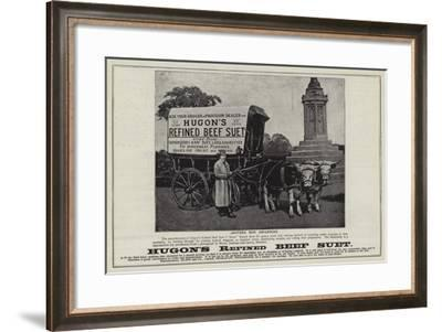 Advertisement, Hugon's Refined Beef Suet--Framed Giclee Print