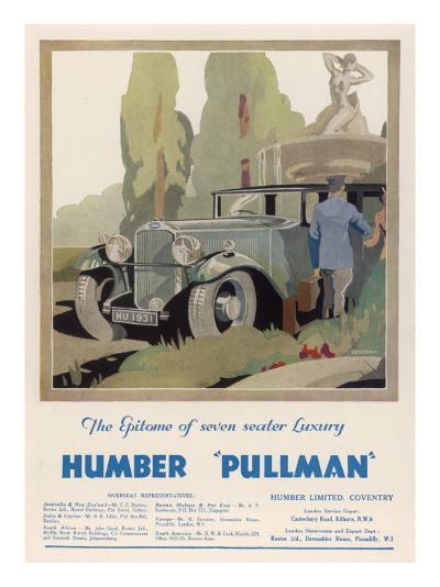 Advertisement Humber Pullman--Giclee Print