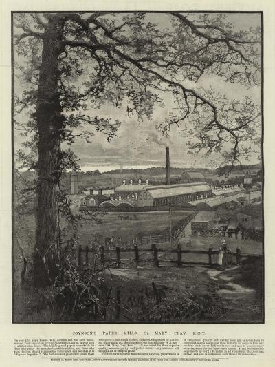 Advertisement, Joynson's Paper Mills--Giclee Print