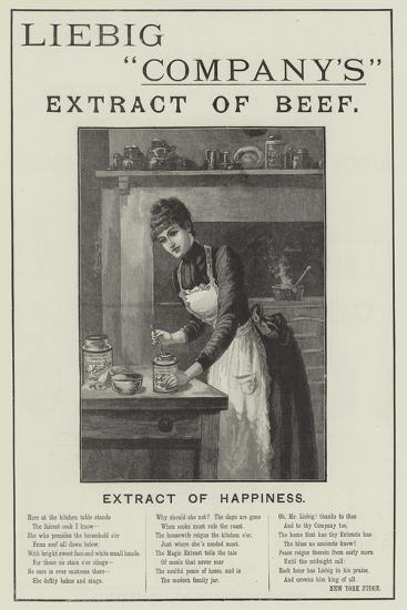 Advertisement, Liebig Company's Extract of Beef--Giclee Print