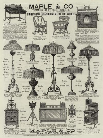 Advertisement, Maple and Co--Giclee Print