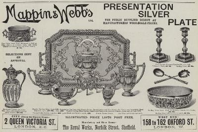 Advertisement, Mappin and Webb's Presentation Silver Plate--Giclee Print