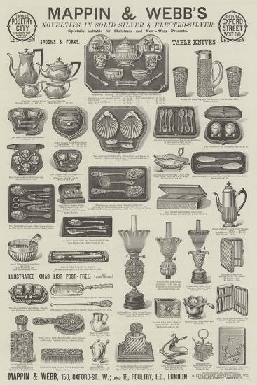Advertisement, Mappin and Webb--Giclee Print