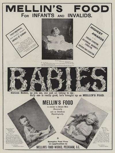 Advertisement, Mellin's Food--Giclee Print