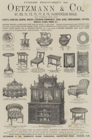 Advertisement, Oetzmann and Company--Giclee Print