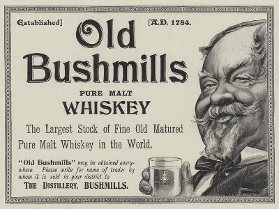 Advertisement, Old Bushmills Whiskey--Giclee Print