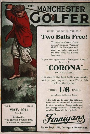 Advertisement on the cover of The Manchester Golfer, British, May 1911-Unknown-Giclee Print