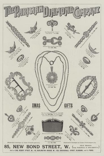 Advertisement, Parisian Diamond Company--Giclee Print