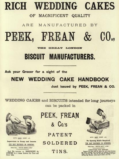 Advertisement, Rich Wedding Cakes--Giclee Print