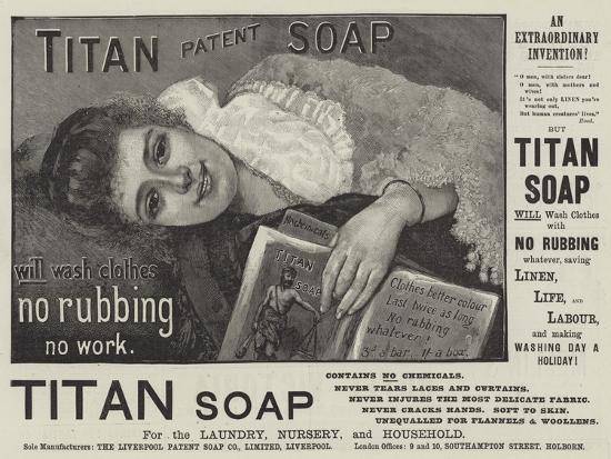 Advertisement, Titan Soap--Giclee Print
