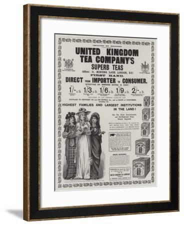 Advertisement, United Kingdom Tea Company--Framed Giclee Print