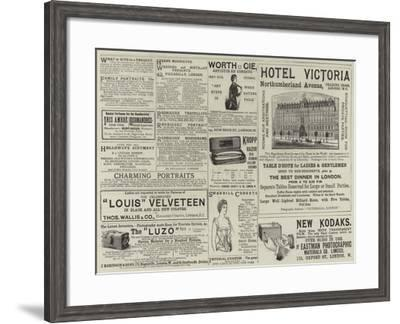Advertisements--Framed Giclee Print