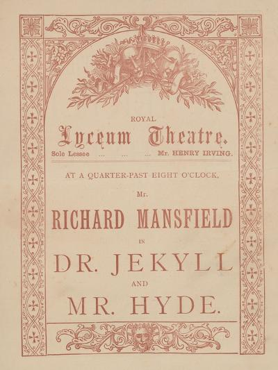 Advertising Card for the Lyceum Theatre, Dr Jekyll and Mr Hyde Starring Richard Mansfield--Giclee Print