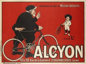 Advertising Poster for Alcyon Bicycles