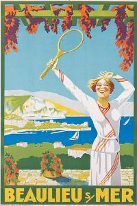 Advertising Poster for Beaulieu-Sur-Mer, C.1925